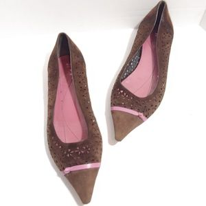 Kate Spade brown suede pointed toe flats